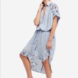 $100 NWOT Free People Embroidered Midi Dress XS